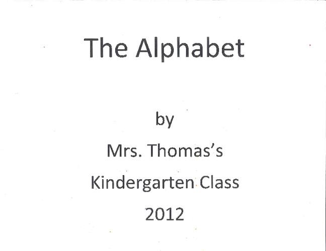 Mrs. Thomas - Alphabet