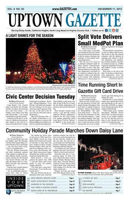 Uptown Gazette  |  December 11, 2015
