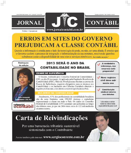Jornal Contábil Abril - Edição Digital - Abril de 2012