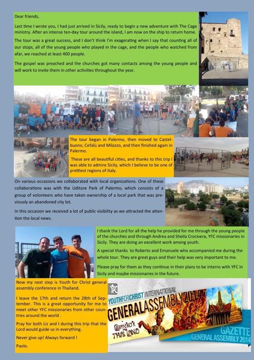 Newsletter Tour of Sicily