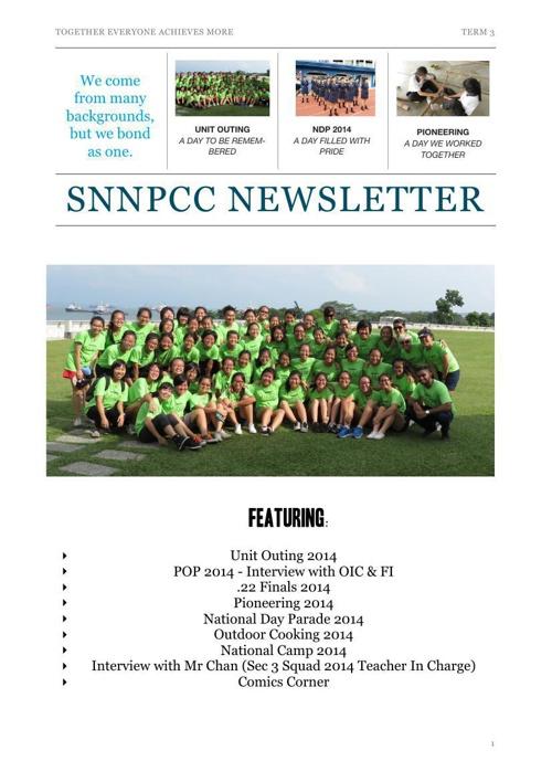 SNNPCC Term 3 Newsletter