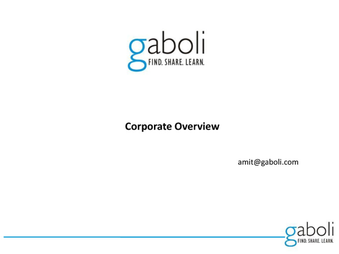 Gaboli Corporate Presentation
