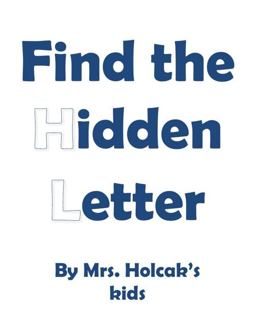 SY Holcak hidden letter book 2012-2013