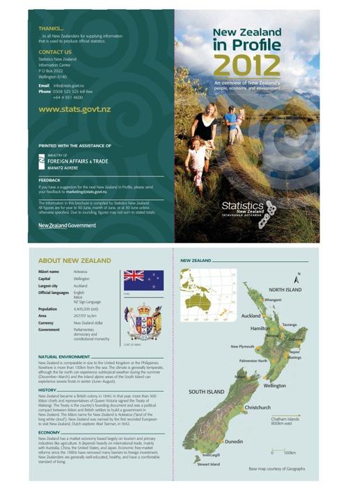 New Zealand Statistics 2012