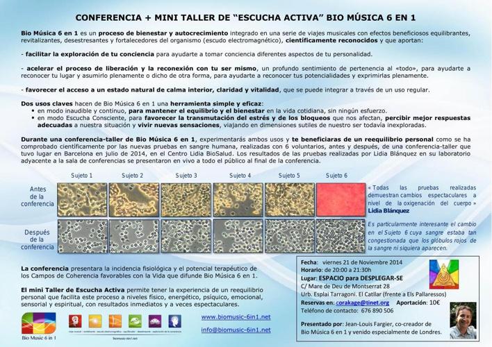 21/NOV/2014 Presentación + MINI TALLER ESCUCHA ACTIVA con BM6in1