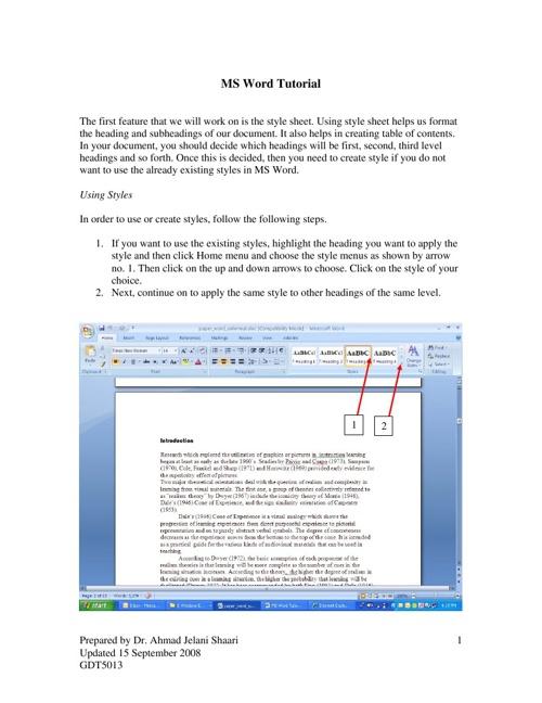 MS Word module