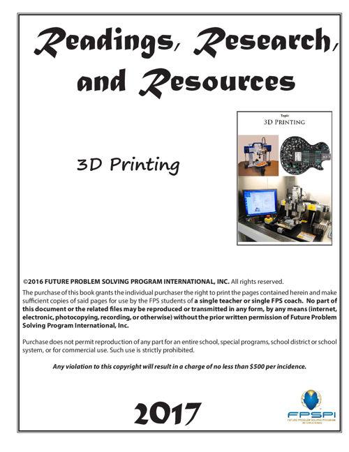 2016-17  RRR 3D Printing