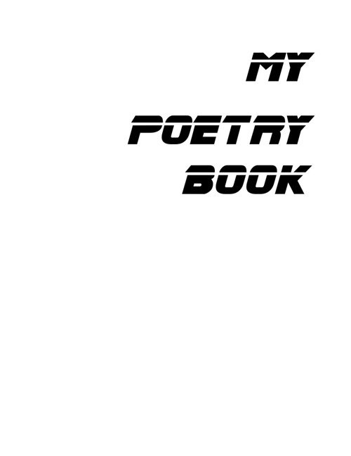 Trevor's Flipping Poetry Book