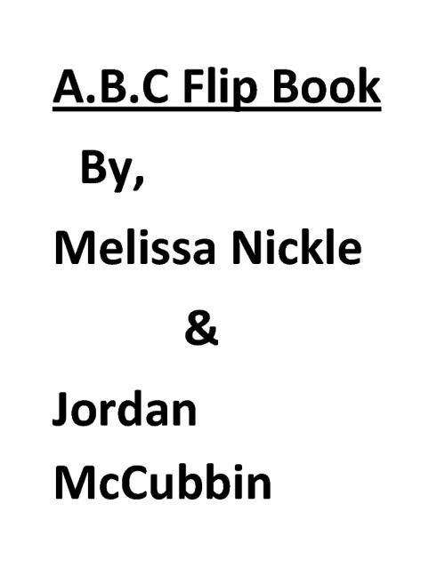 A.B.C Flip Book
