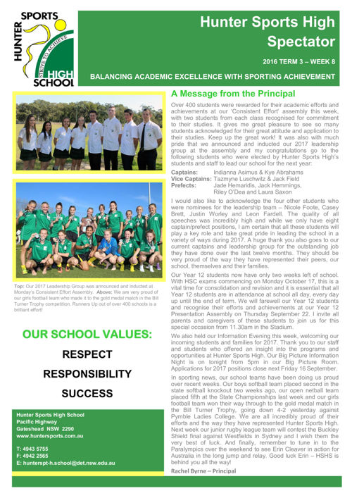Term 3 Week 8 Newsletter 2016