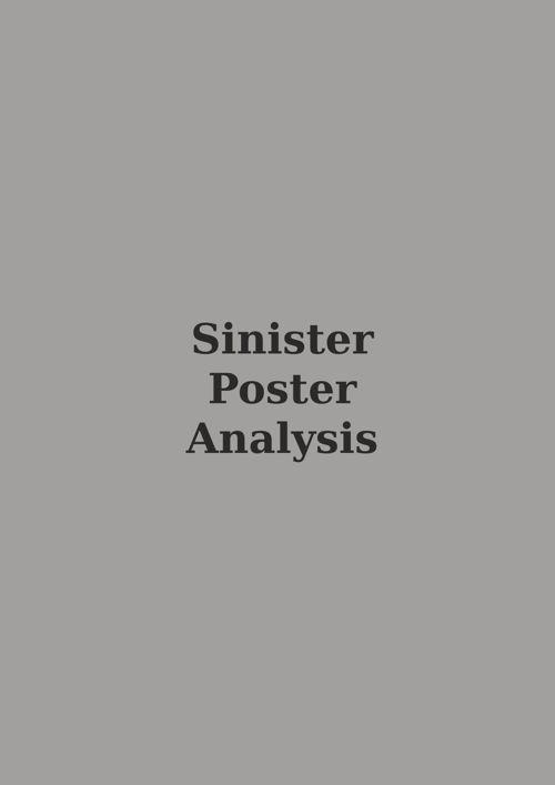 Sinister Poster Analysis