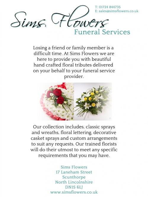 Sims Flowers Funeral Services Brochure