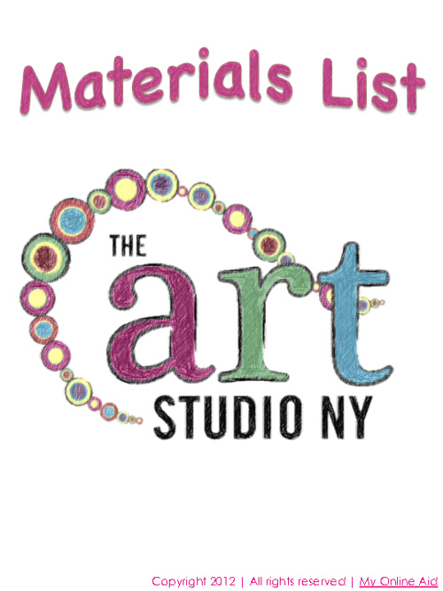 The Art Studio Materials List