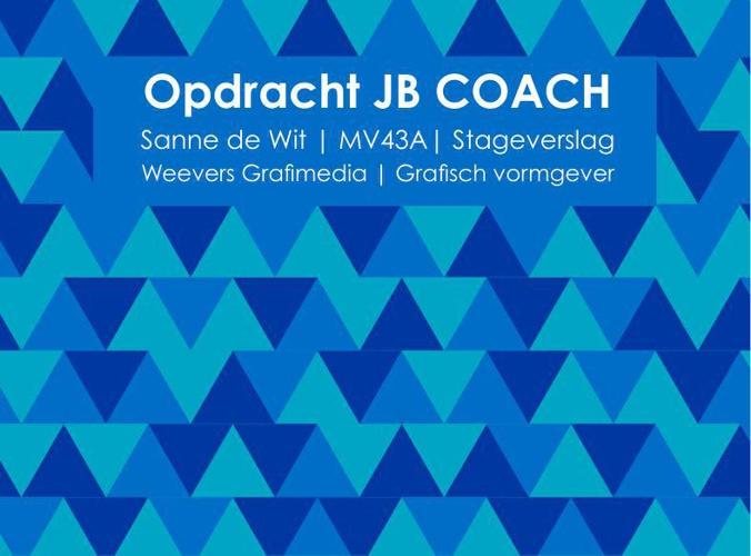 stageverslag JB COACH