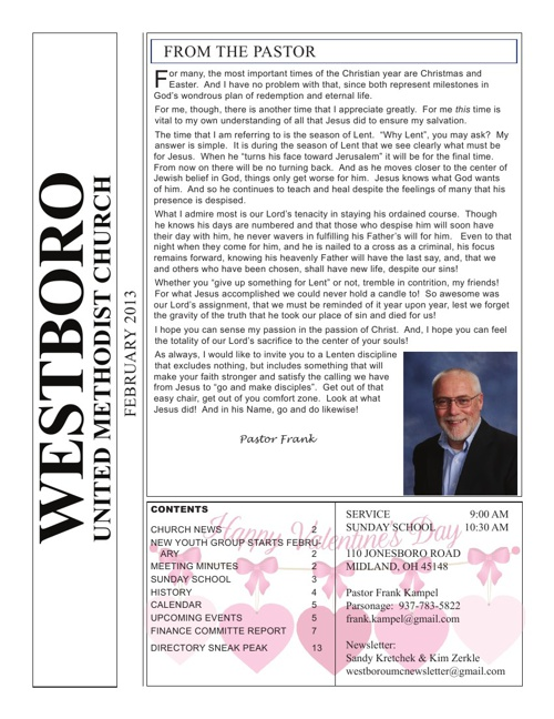2013-Feb: Westboro United Methodist Church Ohio