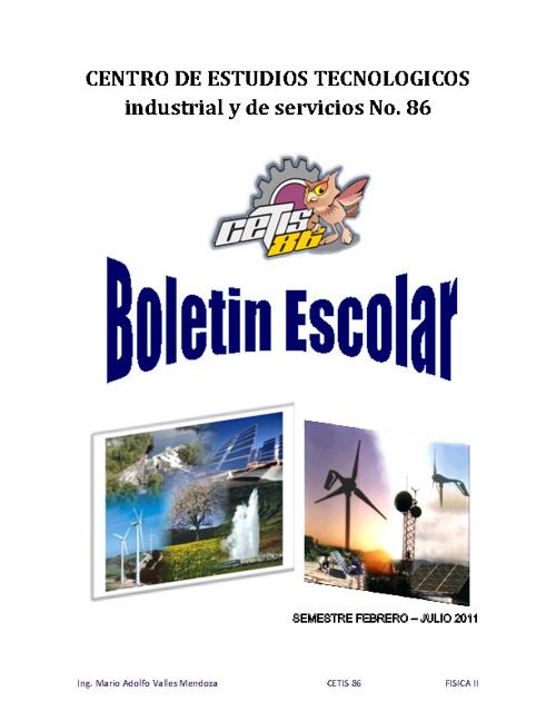 "Boletin Escolar ""La Energia"""