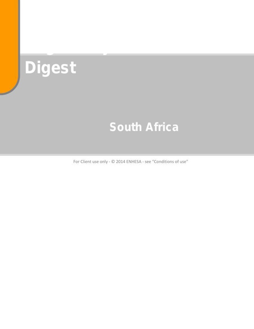 ENHESA_HSE_RegulatoryDigest_SouthAfrica_2014- Module 1