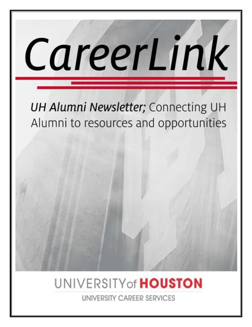 UH Alumni CareerLink Newsletter January 2016