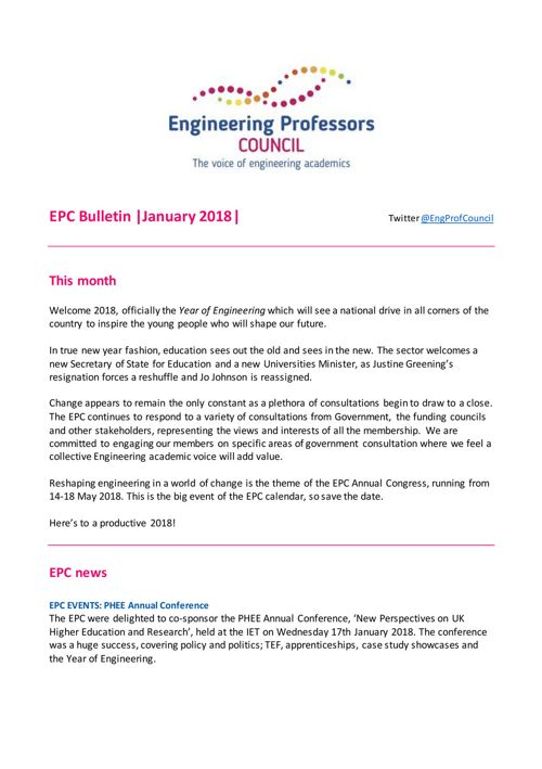 Engineering Professors' Council infoDigest 26 jan 18