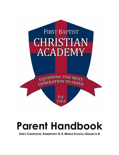 2013-14 Parent Student Handbook