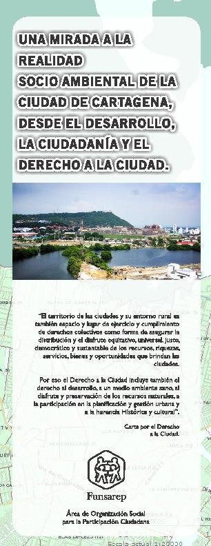 """Plegable """"Una mirada a la realidad socio ambiental  de la ciudad"""