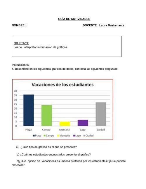 GUÍA DE APRENDIZAJE MATEMÁTICAS 5TO. BÁSICO - DATOS Y PROBABILID