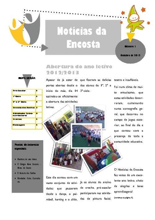 Notícias da Encosta - Outubro 2012