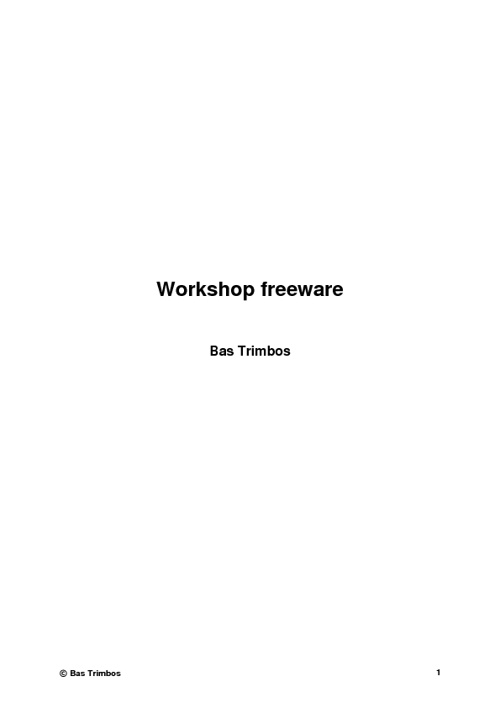 Workshop freeware