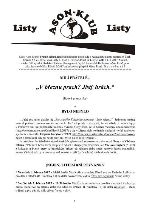 Listy Ason-klubu 3/2017