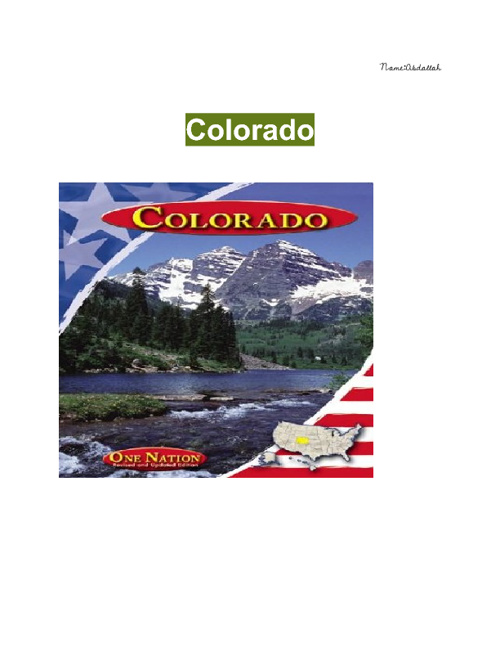 A-Z project on Colorado