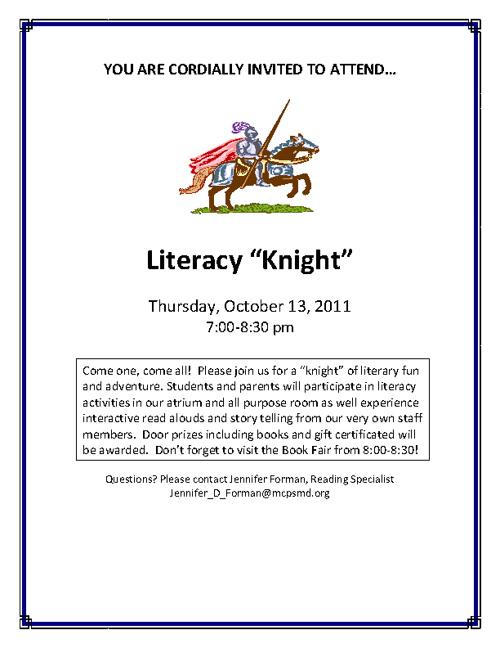 Literacy Knight