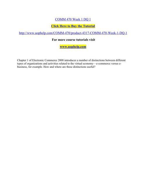 COMM 470 Instant Education/uophelp