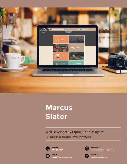 Marcus Slater Design Resume 2015