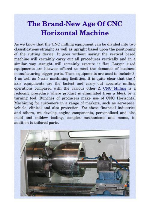 The Brand-New Age Of CNC Horizontal Machine
