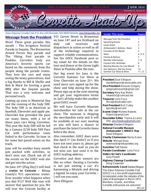 GOCC June 2014 Newsletter