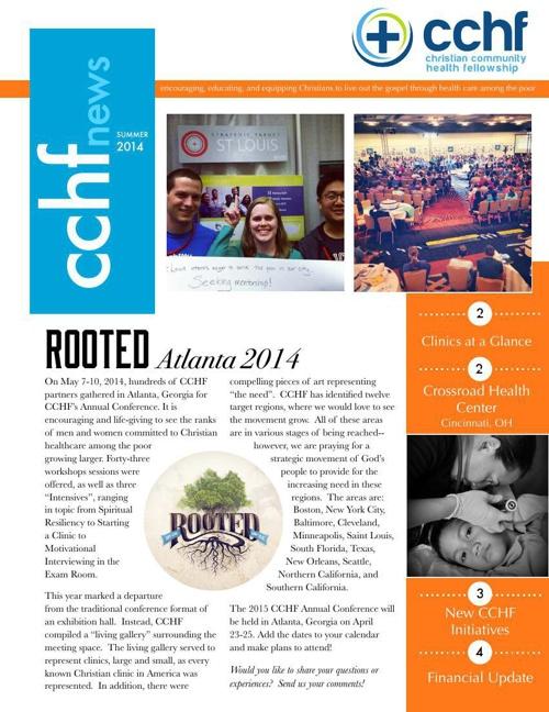 Summer 2014 CCHF Newsletter