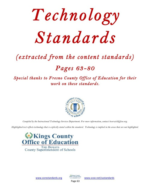 Extracted Common Core Standards With Implied Technology