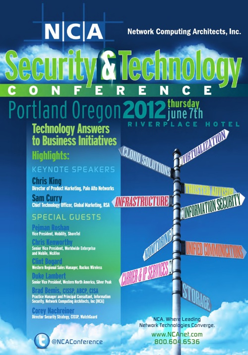NCA Security & Technology Conference - 2012 - Portland, OR