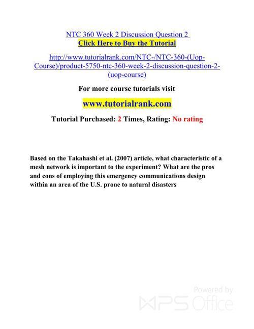 NTC 360 UOP Courses /TutorialRank