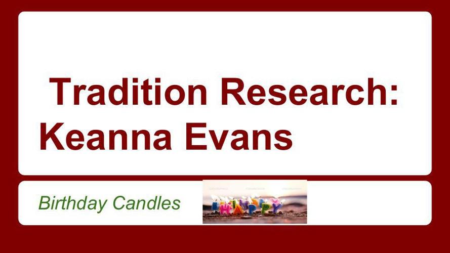 eanna Evans's birthday candles