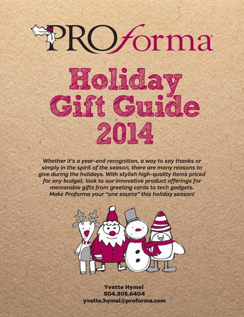 Proforma Holiday Gift Guide 2014