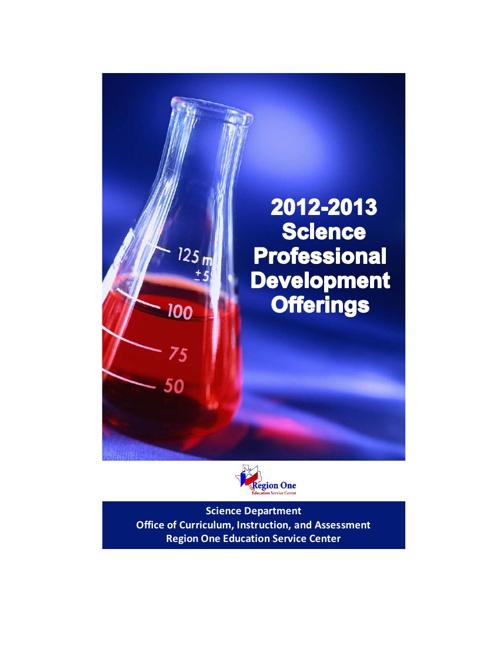 ESC 1 Science PD