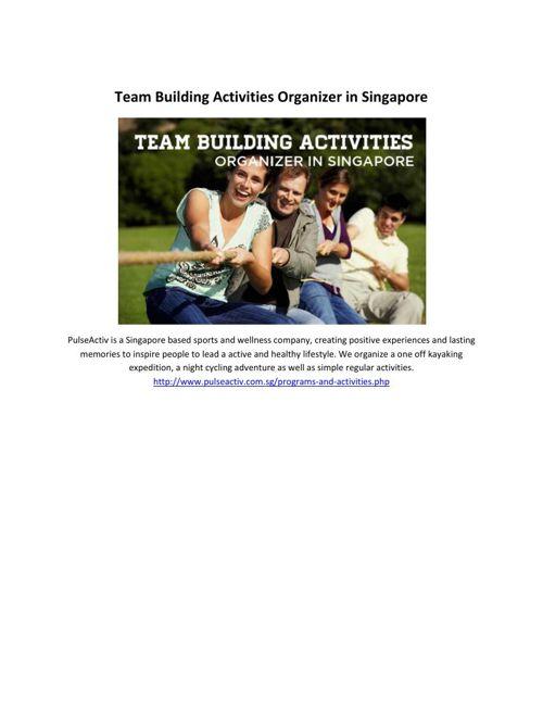 Team Building Activities Organizer in Singapore