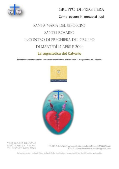 FOGLIO ROSARIO santa maria martedì 15 aprile 2014 don tonino bel