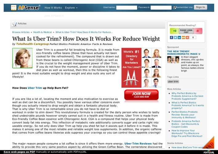 Uber Trim Review- Natural Ingredients, No Side Effects