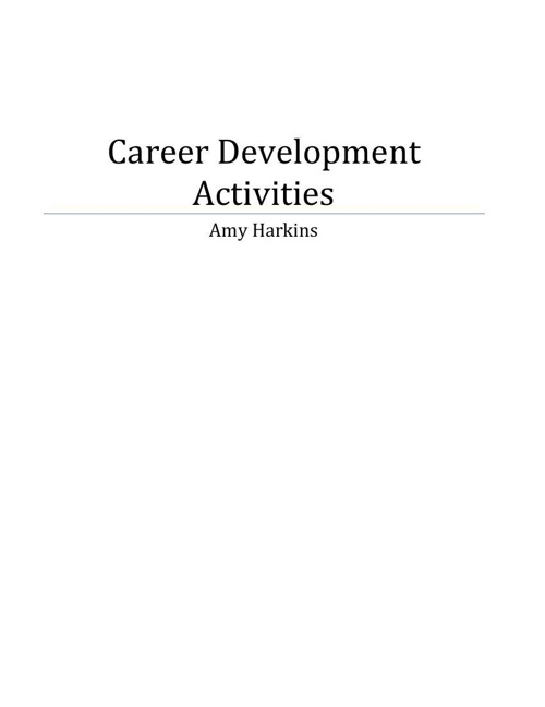 Career Development Activities