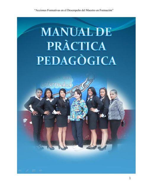 Manual de practica Pedagogica