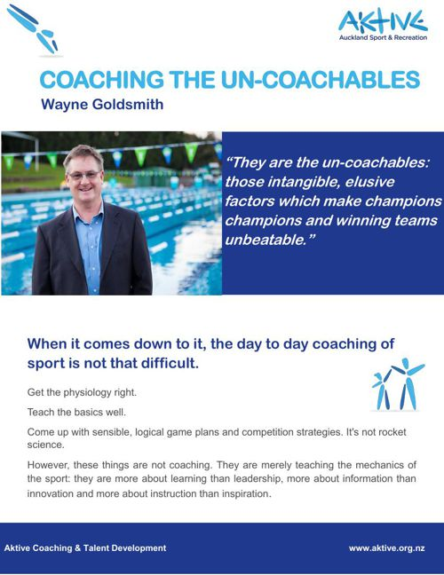Coaching the un-coachables