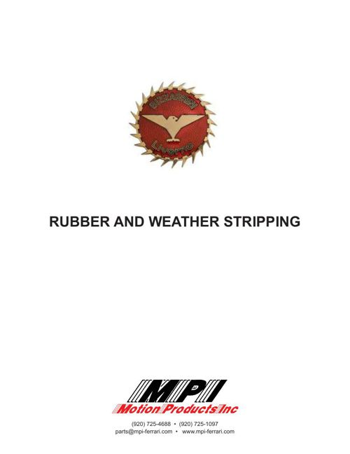 Bizzarrini Rubber Catalog