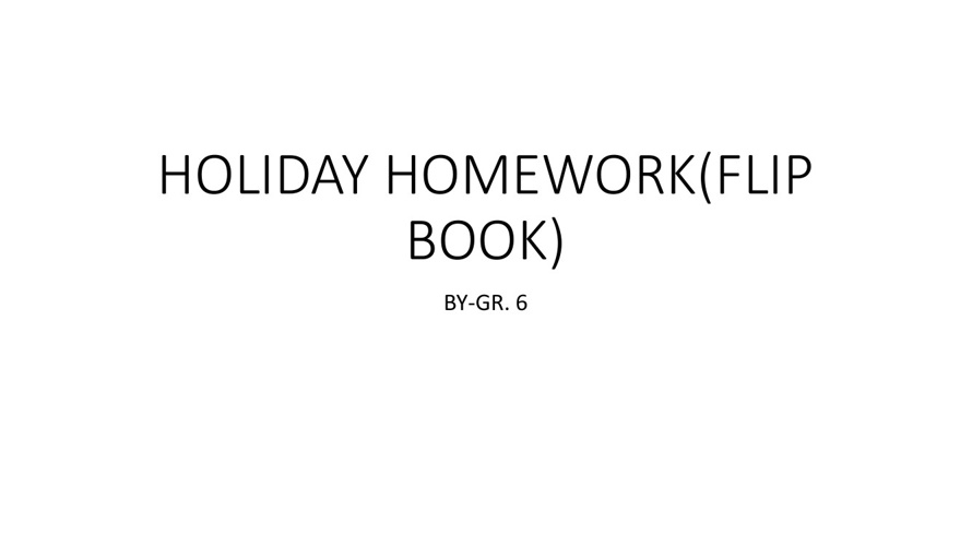 HOLIDAY HOME WORK